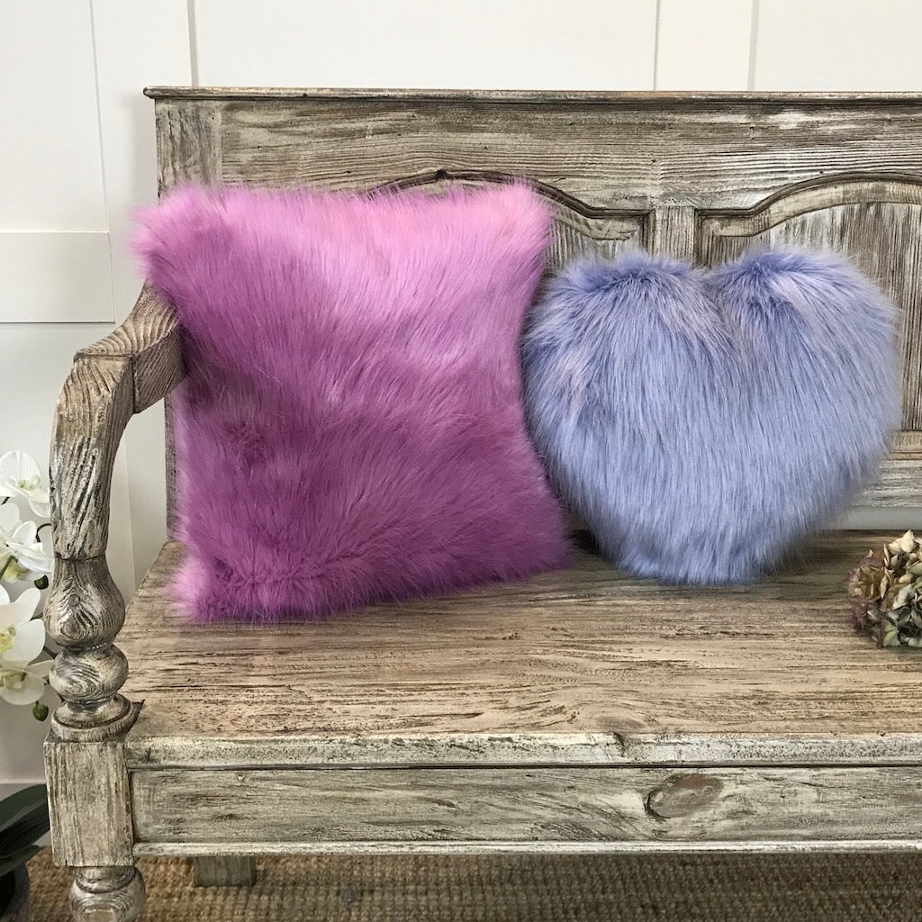 Helen Moore Luxury Faux Fur Heart Cushion
