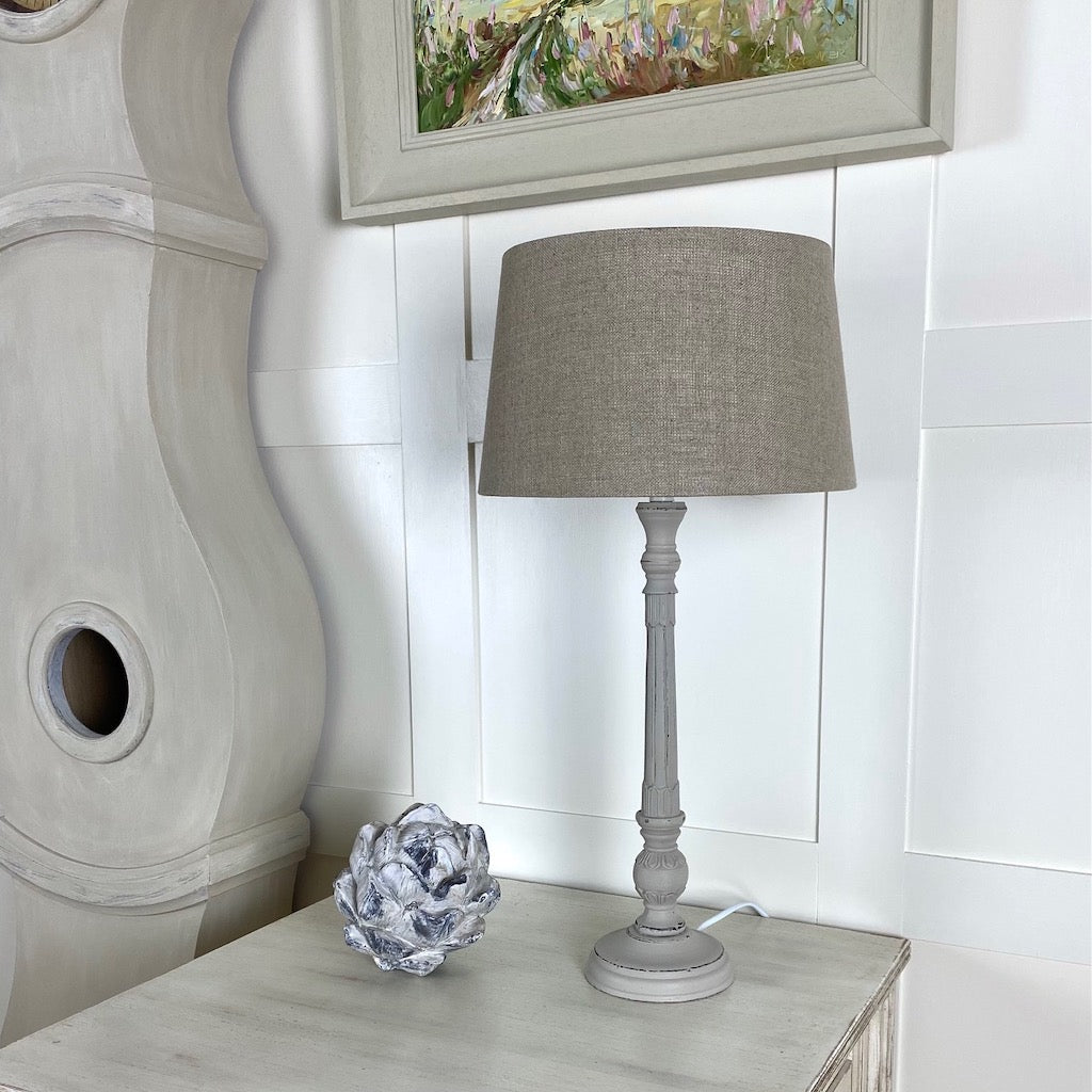 Putty Slim Distressed Table Lamp