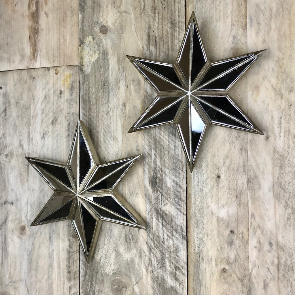 Decorative Star Mirror Pair