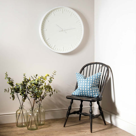 Contemporary Pearl White Wall Clock