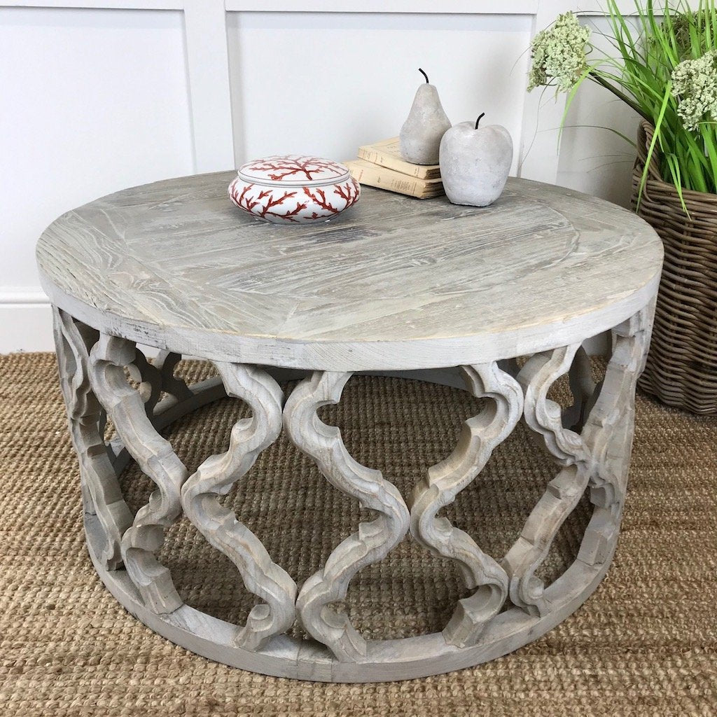 Recycled Elm Ikat Design Coffee Table