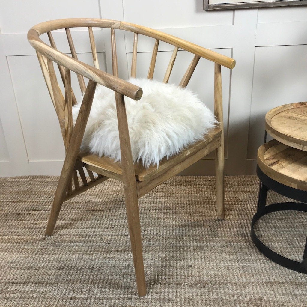Nordic Wooden Spindle Wishbone Tub Chair