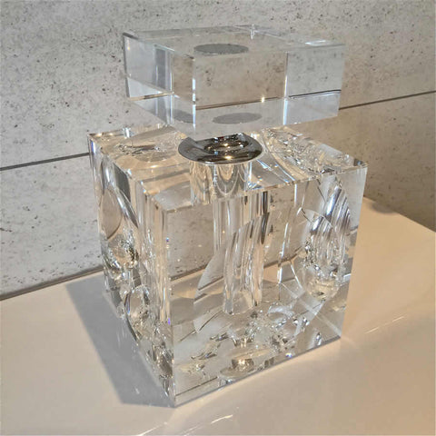 Giant Square Crystal Perfume Bottle