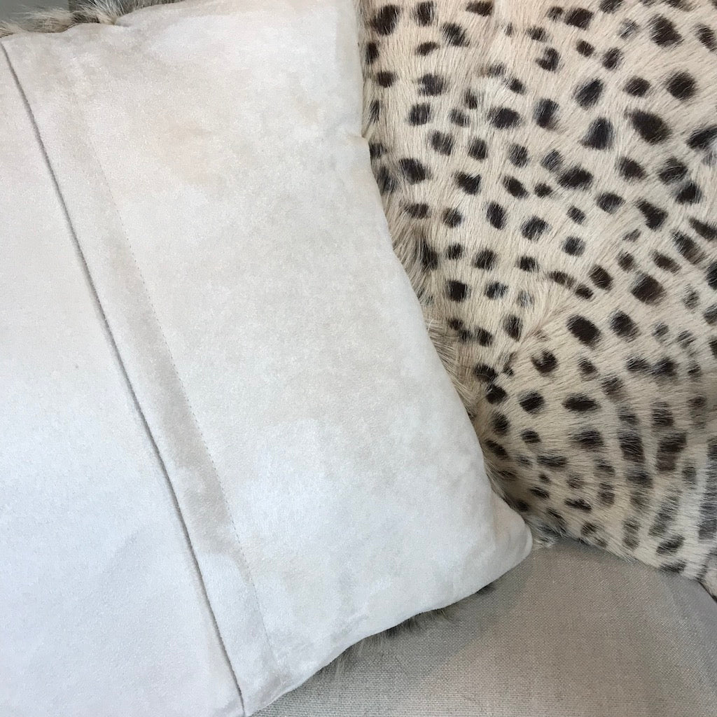 Goat Hair Cheetah Print Cushion Cover