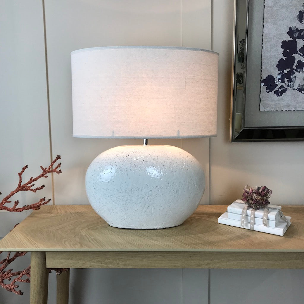 Oval Crackle Glaze Table Lamp