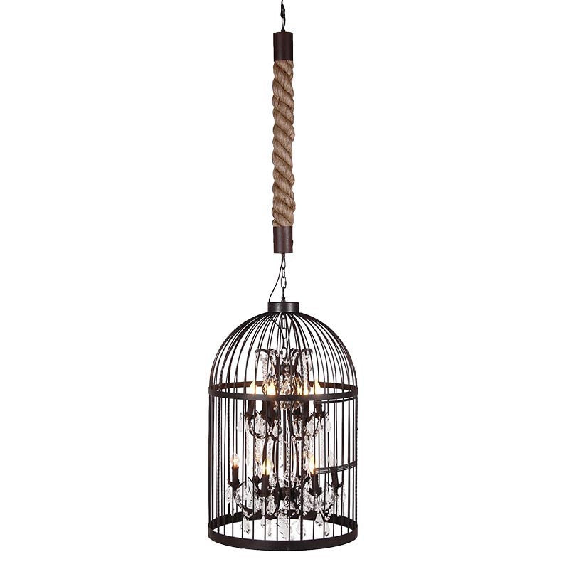 Bronze Twelve Light Birdcage Chandelier