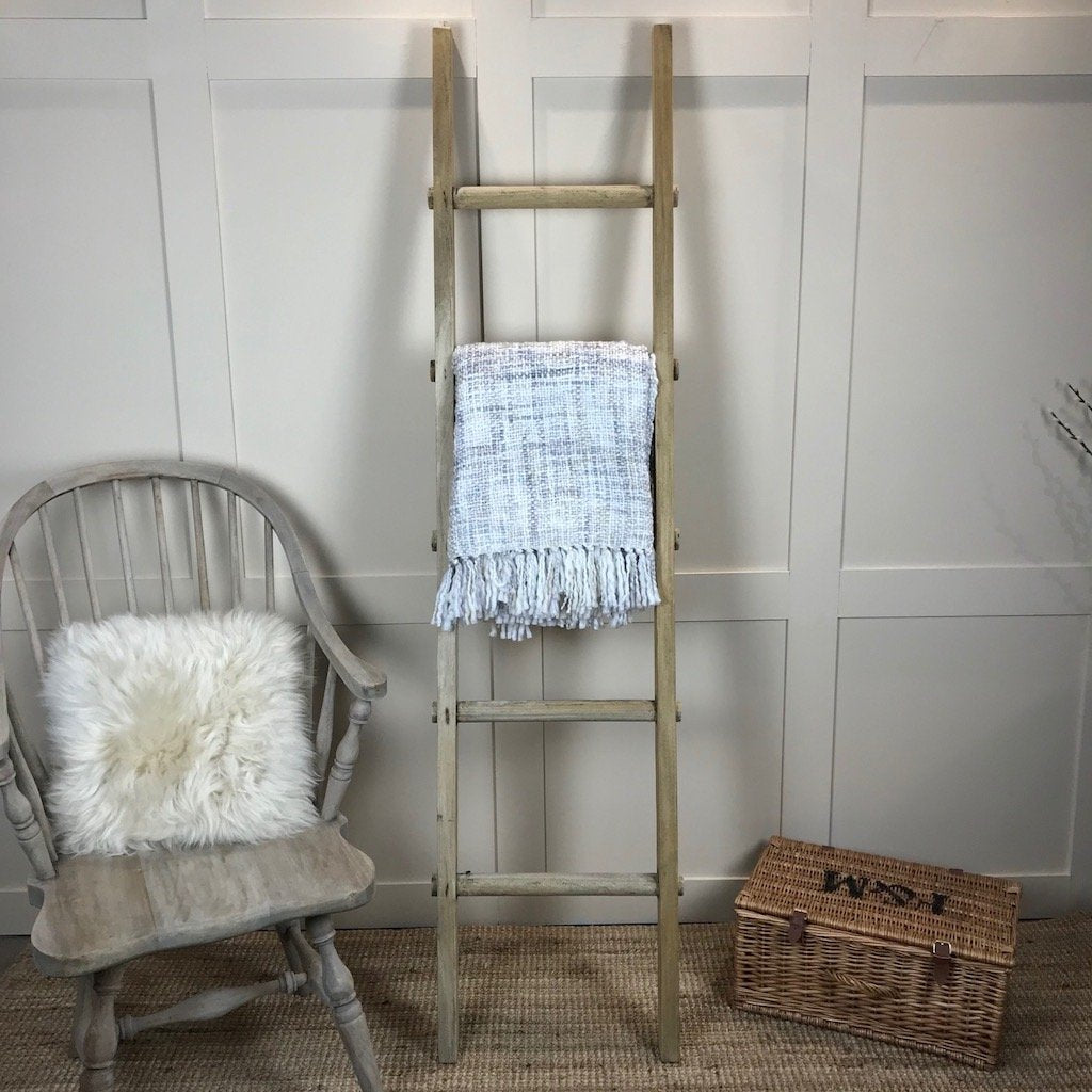 Decorative Wooden Ladder Bleached Mahogany