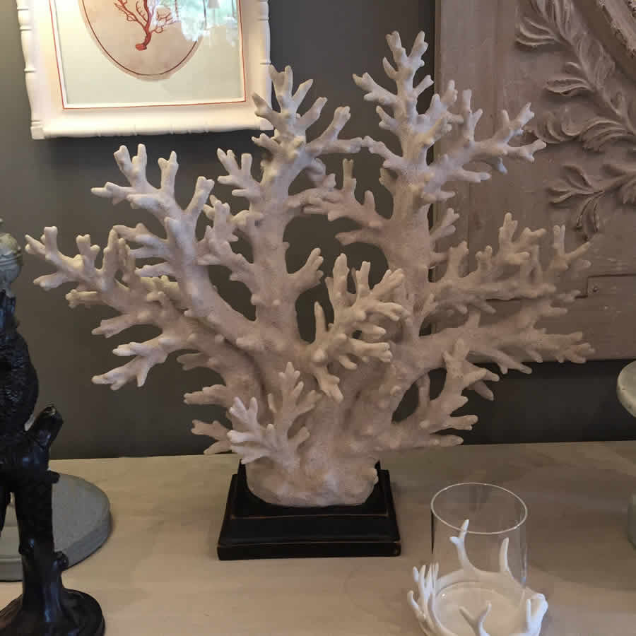 Coastal Coral Tree On Stand - off white (Large)
