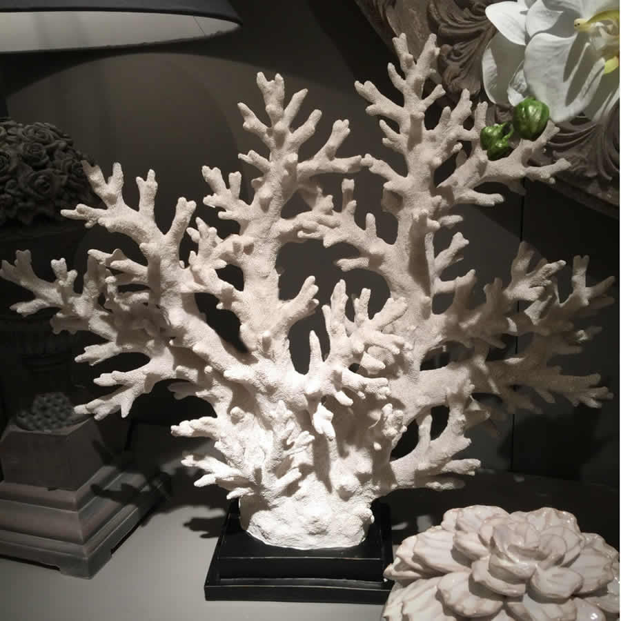 Coastal Coral Tree On Stand Large Cowshed Interiors