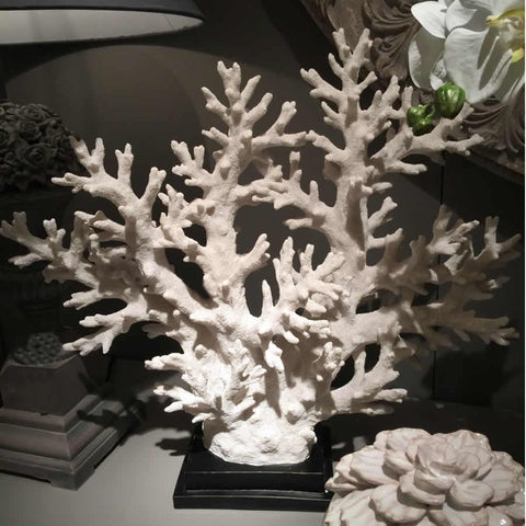 White Coastal Coral Tree On Stand (Large)