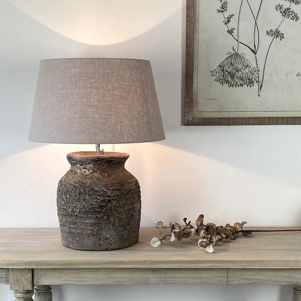Salina 2 Distressed Large Table Lamp