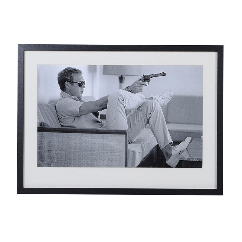 Steve McQueen 'Taking Aim' Iconic Picture