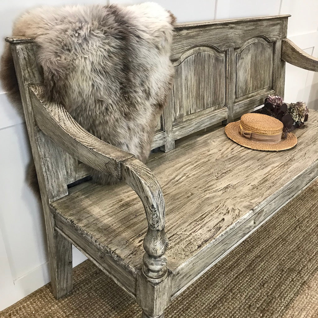 Reclaimed Wood Colonial Bench