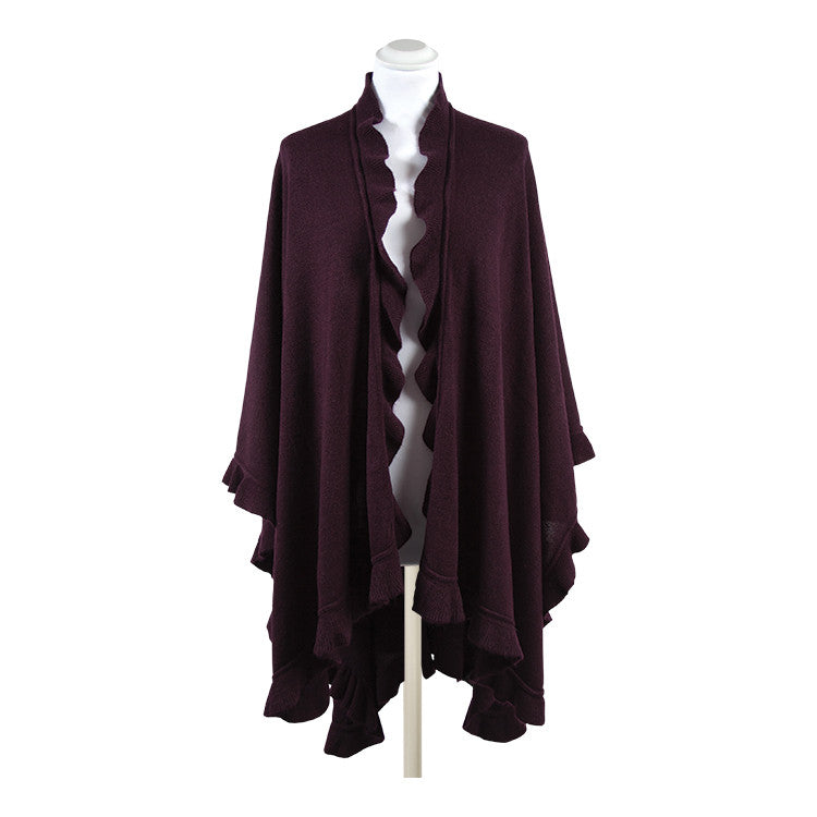 Antonella Super Soft Wrap with Fluted Edge
