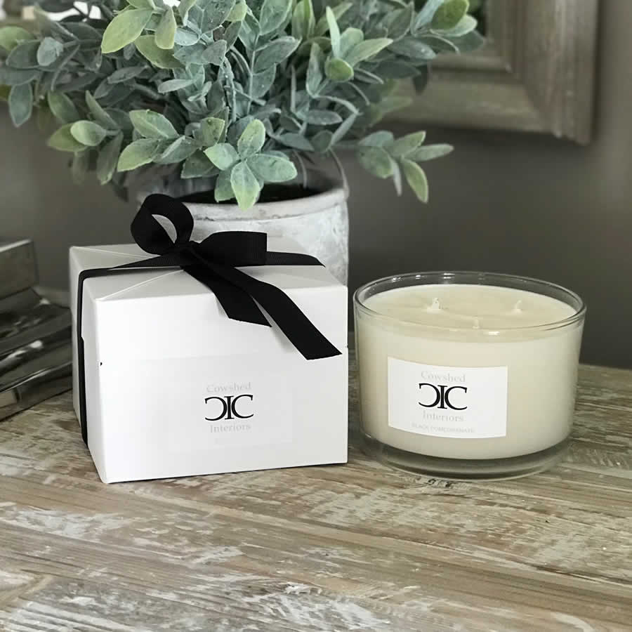 Cowshed Interiors Candle - Black Pomegranate