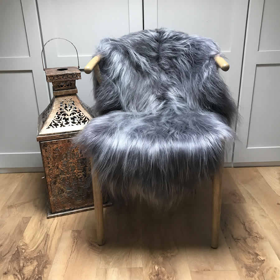 Finest Icelandic Sheepskin Dark Platinum Grey