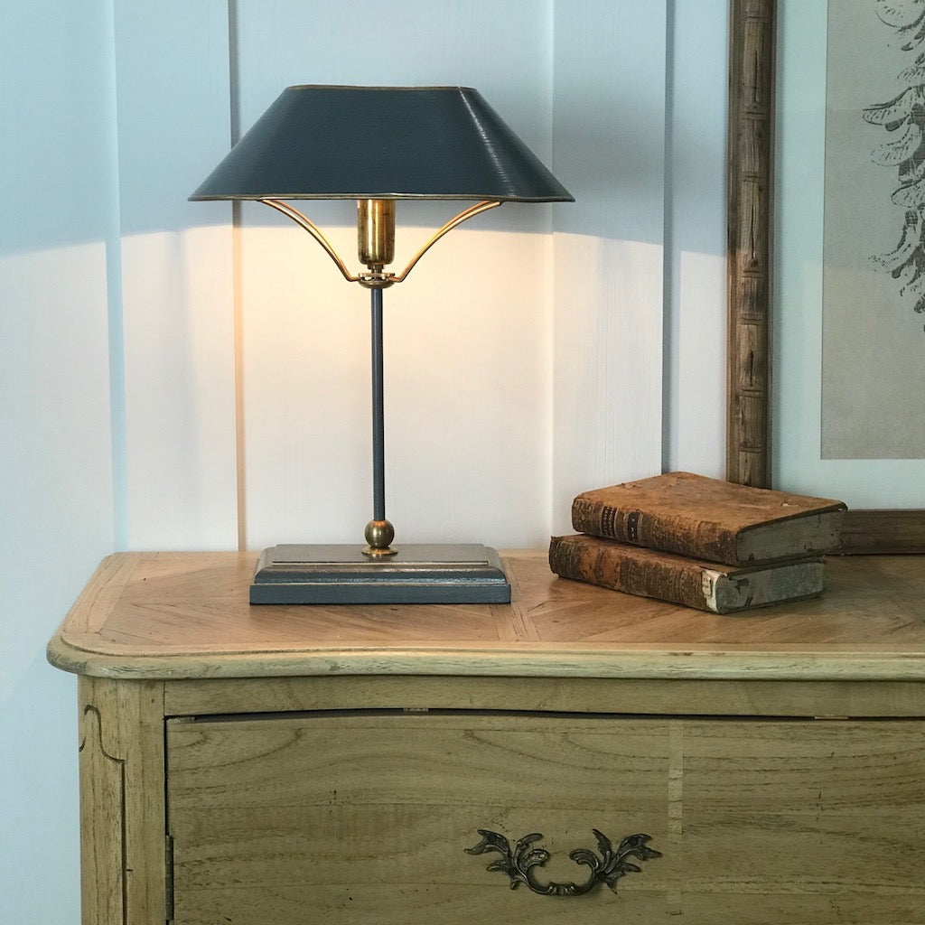 Classic Grey Metal Desk Table Lamp