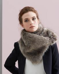 Helen Moore Luxury Faux Fur Asymmetric Scarf