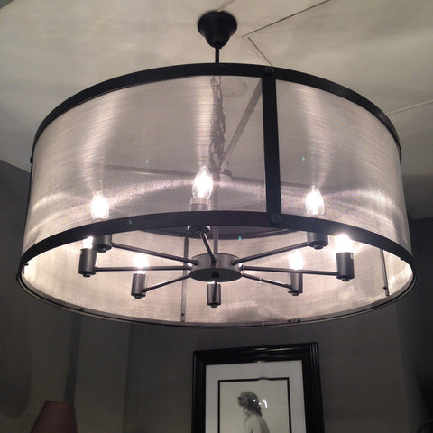 Riveted Mesh Round Chandelier