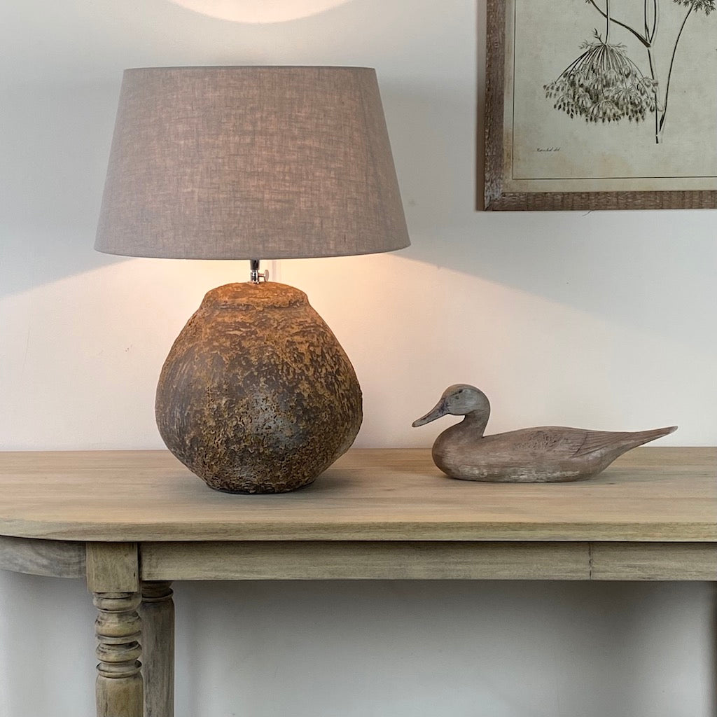 Stromboli Bell Distressed Table Lamp