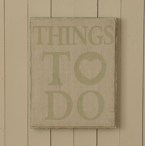 Things To Do Fabric Noticeboard pinboard