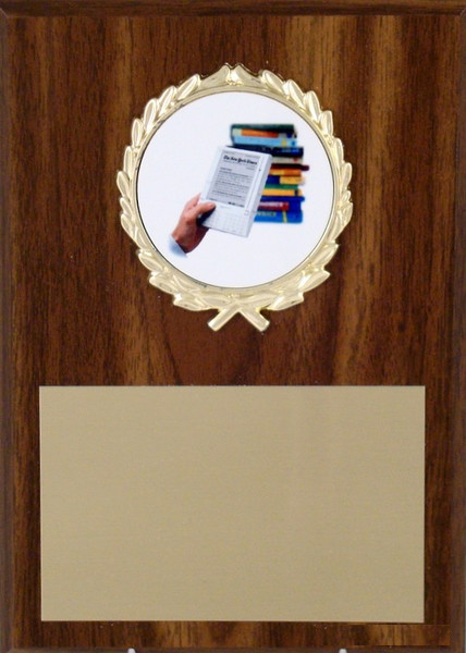 5x7 Plaque With Kindle Logo