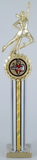 Cheerleading Trophy with Star Holder - Large-Trophies-Schoppy's Since 1921