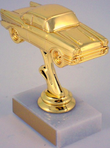 Classic Car Trophy on Marble Base