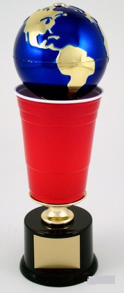 World's Greatest Beer Pong Trophy - The Spinner-Trophies-Schoppy's Since 1921
