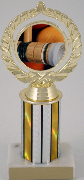 "Croquet Logo on 3"" Column-Trophies-Schoppy's Since 1921"