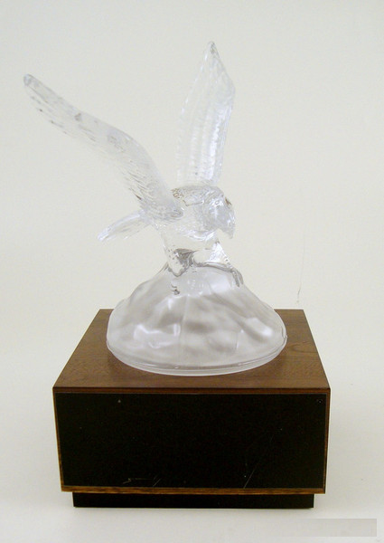 Crystal Eagle on Walnut Base