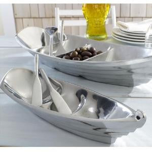 "13"" Aluminum Boat Tray with two Oar Servers"