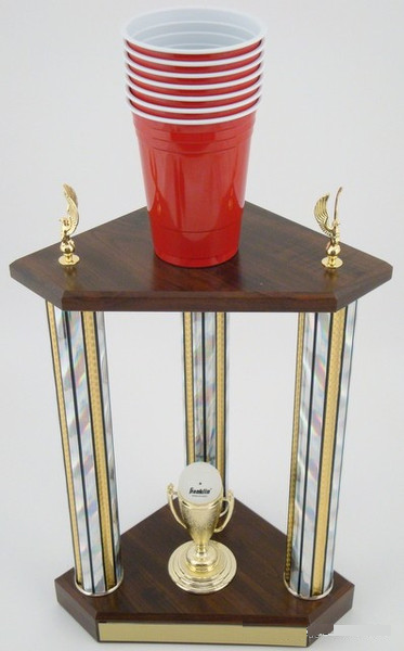 Beer Pong Champion Trophy