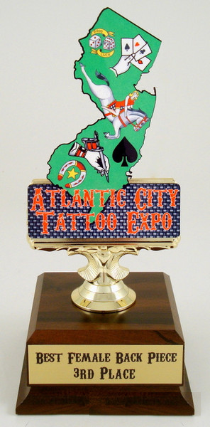 Custom State Cutout Trophy - Entry Level