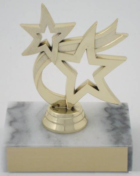 Dancing Star Trophy on Marble Base