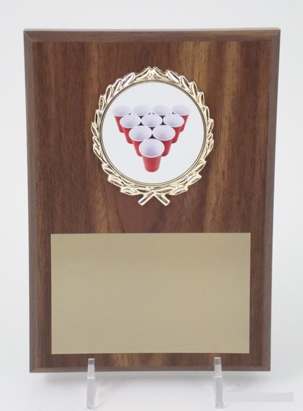 Beer Pong Rack 5x7 Plaque-Plaque-Schoppy's Since 1921