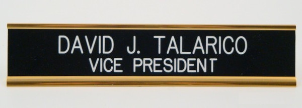 Desk Nameplate 1.5 x 10 Gold