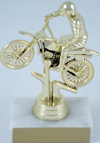 Dirt Bike Motorcycle on Marble Base-Trophies-Schoppy's Since 1921
