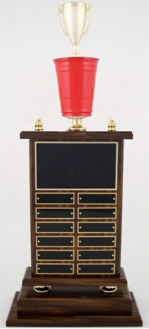 Beer Pong Trophies, Plaques, Medals, and Custom Awards