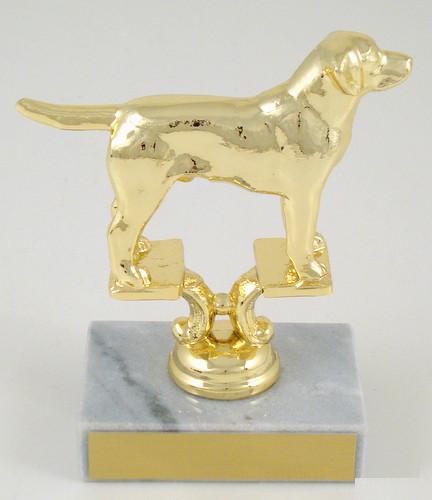 Dye Cast Dog Trophy on Genuine Marble Base