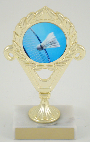 Badminton Logo Trophy Deluxe-Trophies-Schoppy's Since 1921