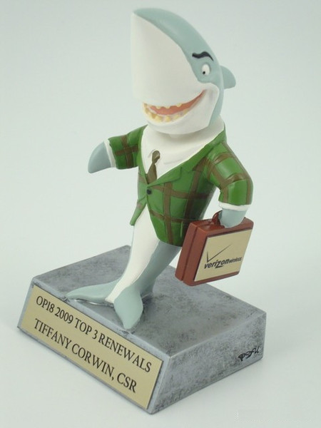 Sales Shark - Bobblehead Resin Trophy