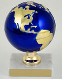 Earth Day Globe on White Marble Trophy-Trophies-Schoppy's Since 1921