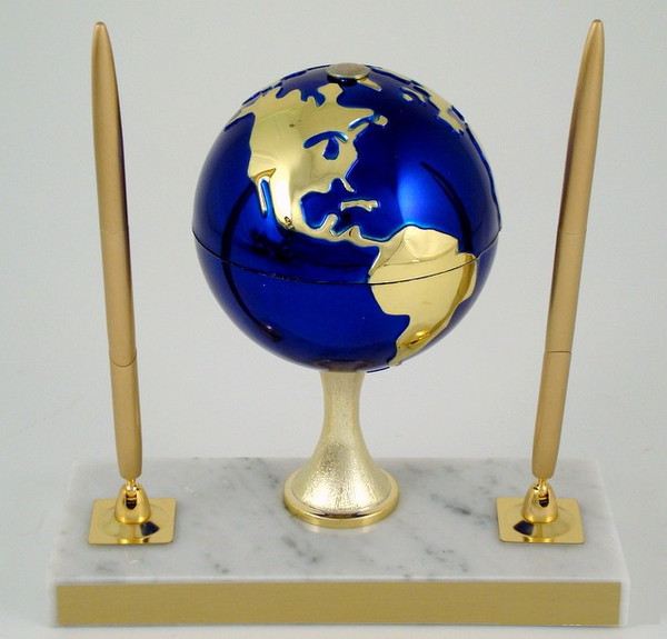 Earth Day Globe Stem Double Pen Set