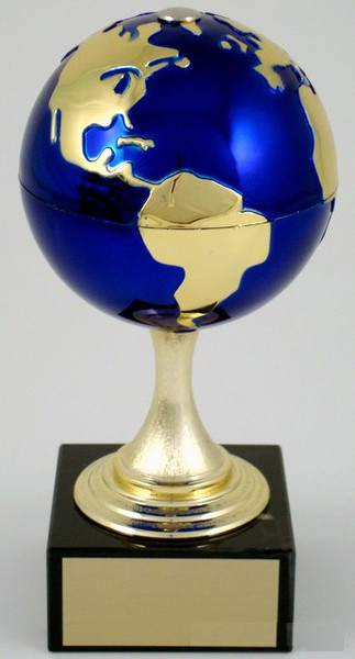 Earth Day Globe Stem on Marble Trophy