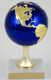 Earth Day Globe Stem on White Marble Trophy-Trophies-Schoppy's Since 1921