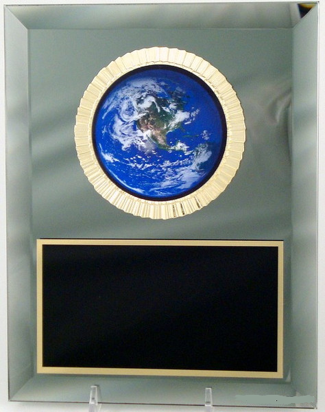 Earth Day Logo Mirror Plaque-Plaque-Schoppy's Since 1921