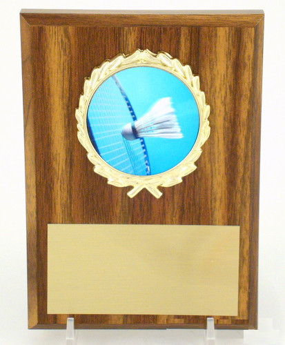 Badminton Plaque 4x6