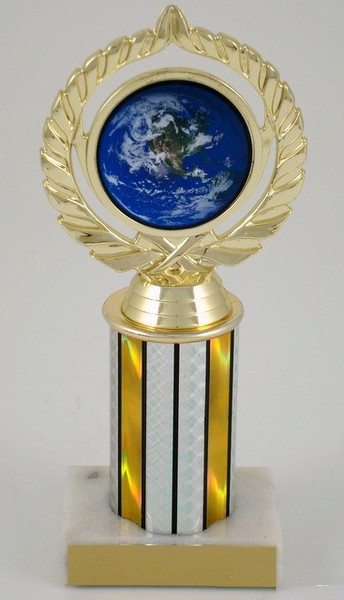 "Earth Day Logo on 3"" Column Trophy-Trophies-Schoppy's Since 1921"