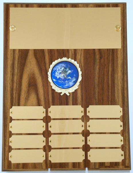 Earth Day Logo Perpetual Plaque-Plaque-Schoppy's Since 1921
